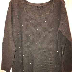 Apt 9 Gray Bling Sweater - Small